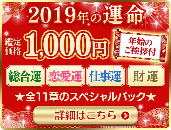 2019年の運命1000円