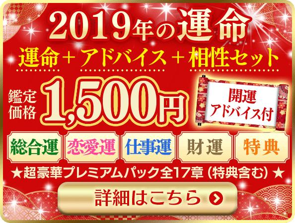 2019年の運命と相性1500円