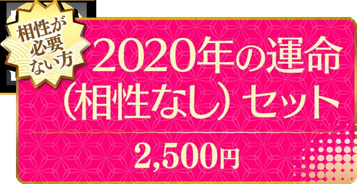 相性が必要ない方 2020年の運命(相性なし)セット 2,500円