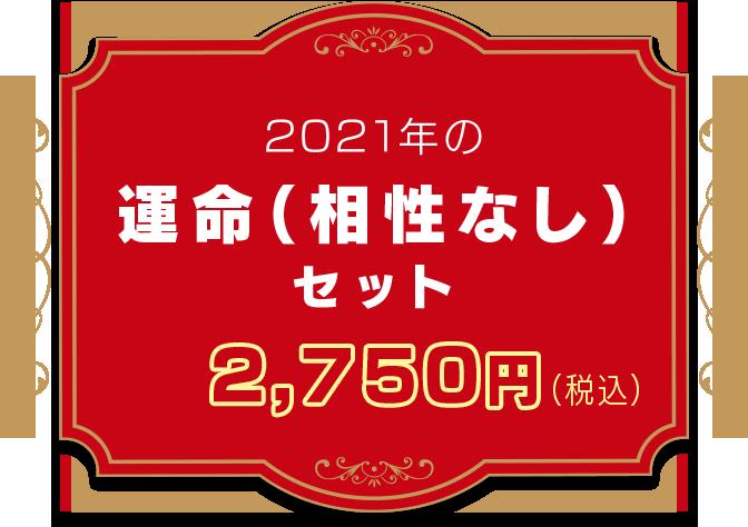 2021年の運命(相性なし)セット 2,500円